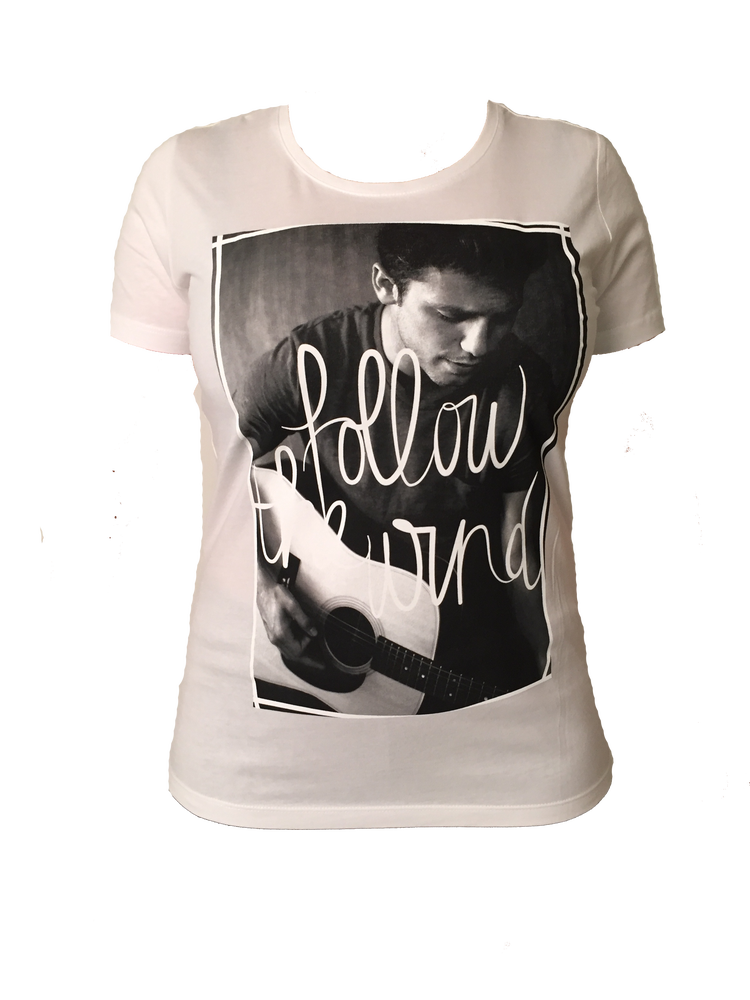 "Image of TSHIRT ""FOLLOW THE WIND"" (White or Black)"