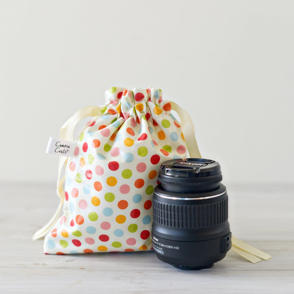 Image of GO PRO Padded Bag o Lens Pouch | Great gift idea | Laminated Cotton Wipes Off