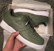 Image of NIKE AIR FORCE 1 LO PREMIUM LEATHER | OLIVE GREEN