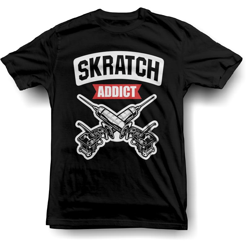 Image of Skratch Addict T-Shirt (Black)