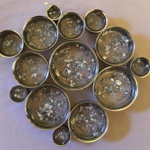 "Image of Silver Flake Plugs (sizes 0g-2"")"
