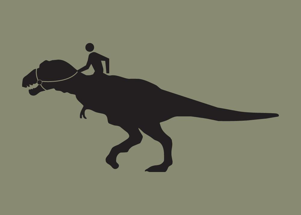 Image of Walking Man Dino Rider Print Collection