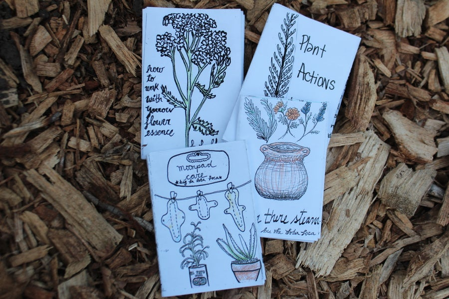 Image of Mini-Zines hand written & illustrated