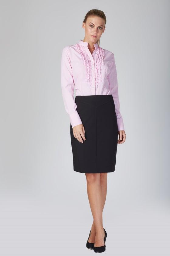 Image of Zambelli Ruffle Shirt - Pink