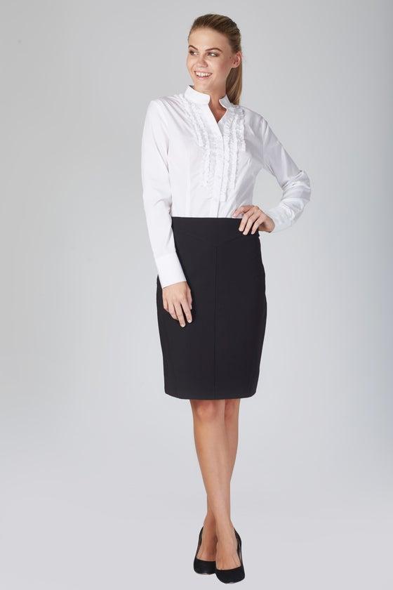 Image of Zambelli Ruffle Shirt - White