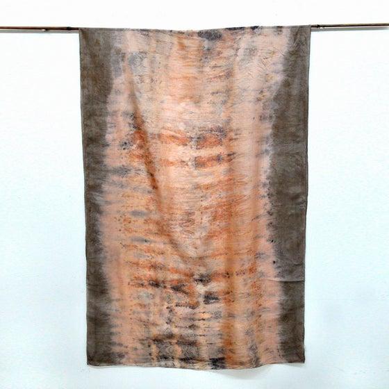 Image of Eco print silk shawl