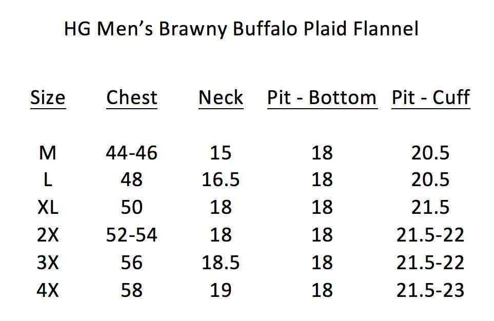 Image of HG Mens Brawny Buffalo Plaid Flannel Jacket Heavyweight