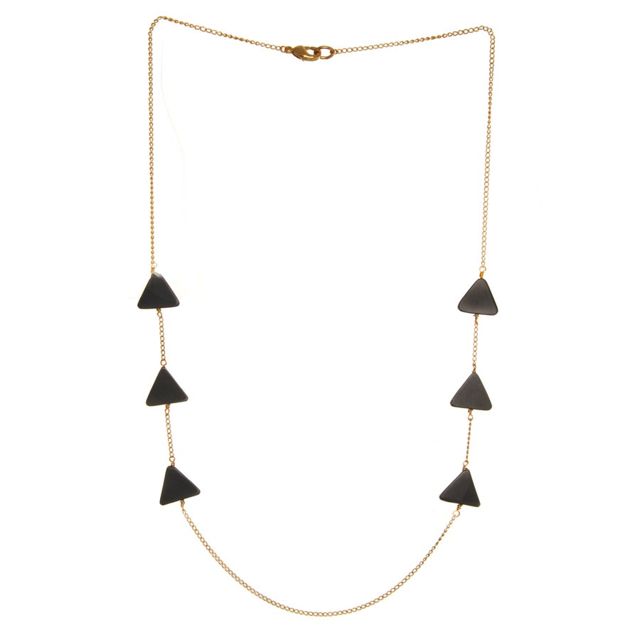 Image of ONYX EQUILATERAL TRIANGLE necklace