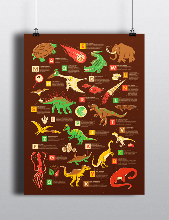 Image of Dino Alphabet Poster