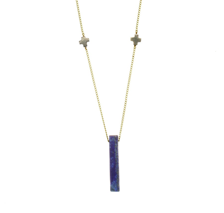 Image of LAPIS DOUBLE + pendant