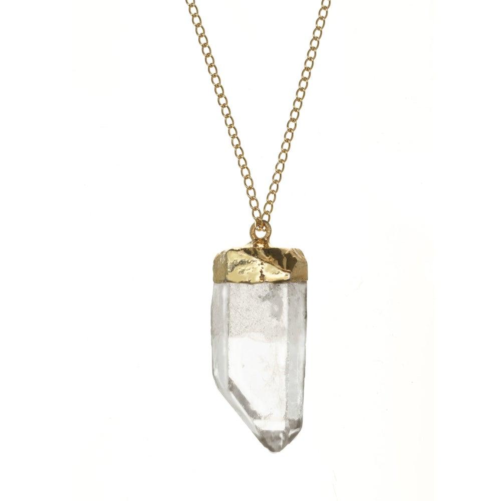 Image of GOLD DIPPED QUARTZ pendant