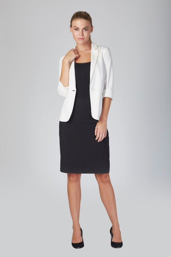 Image of Privilege Soft Tailored Jacket - White
