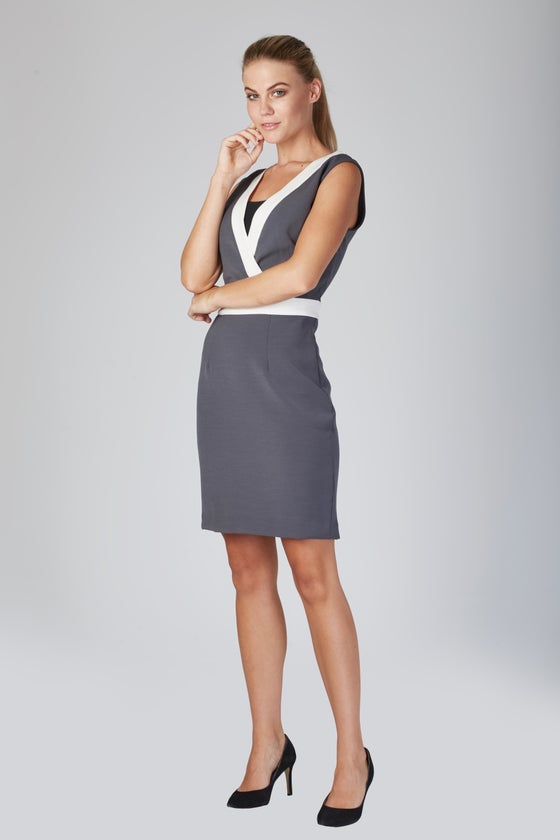 Image of Zambelli Monica Dress - Charcoal