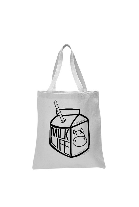Image of Milk Life Canvas Tote Bag