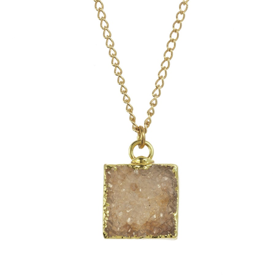 Image of GEOMETRIC SQUARE DRUZY
