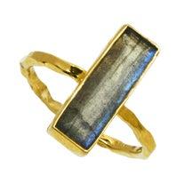 Image of GEMSTONE BAR ring