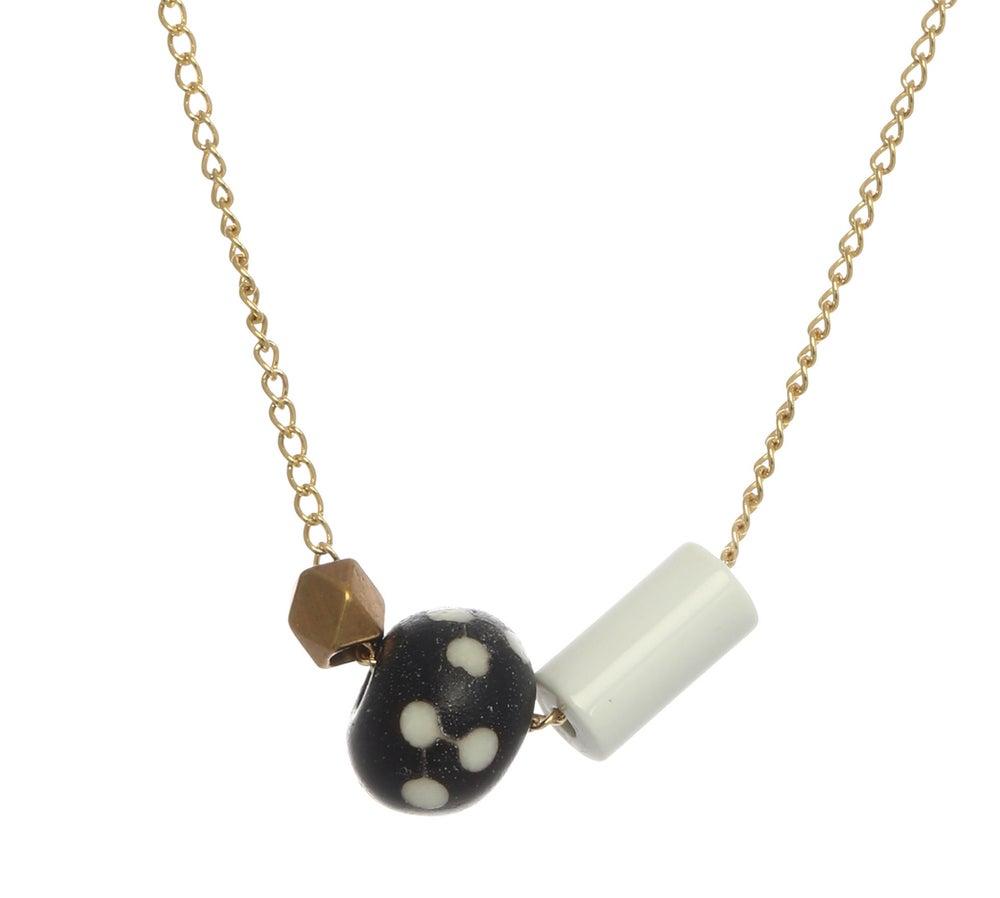 Image of ASYMMETRICAL POLKA DOT necklace