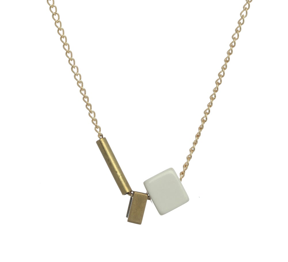 Image of ASYMMETRICAL SQUARE necklace