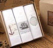 Image of Box of III Men's Handkerchiefs: Sailing