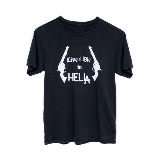 Image of Black 'Live & Die in HelLA' Tee with White Ink