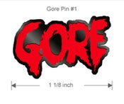 Image of GORE enamel pins (GREEN & RED)