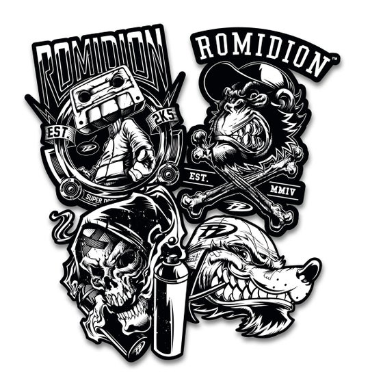 Image of Romidion Stickers Black and White Series 1
