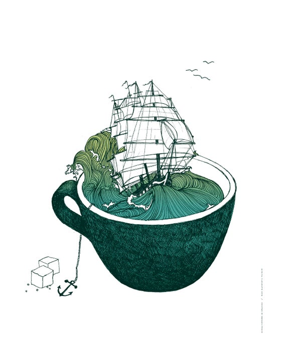 Image of My Cup Of Sea Print