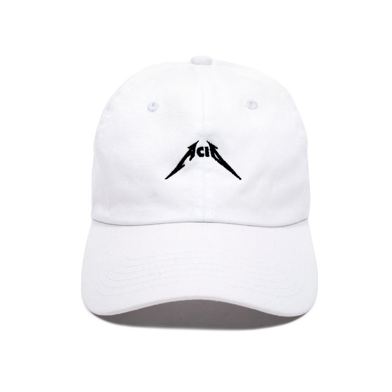 Image of Acid Low Profile Sports Cap - White