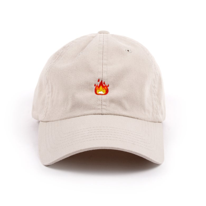 """Image of  """"Fire"""" Low Profile Sports Cap - Stone"""