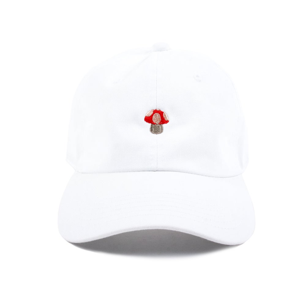 Image of  Mushroom Low Profile Sports Cap - White