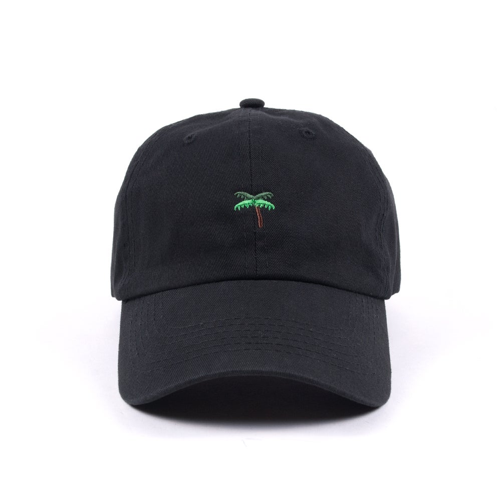 Image of  Palm Tree Low Profile Sports Cap - Black
