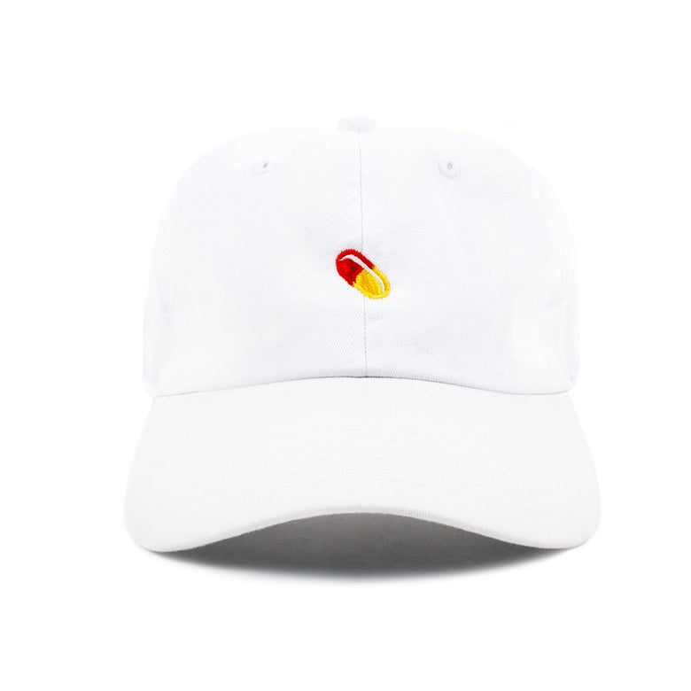 """Image of  """"Pill"""" Low Profile Sports Cap - White"""