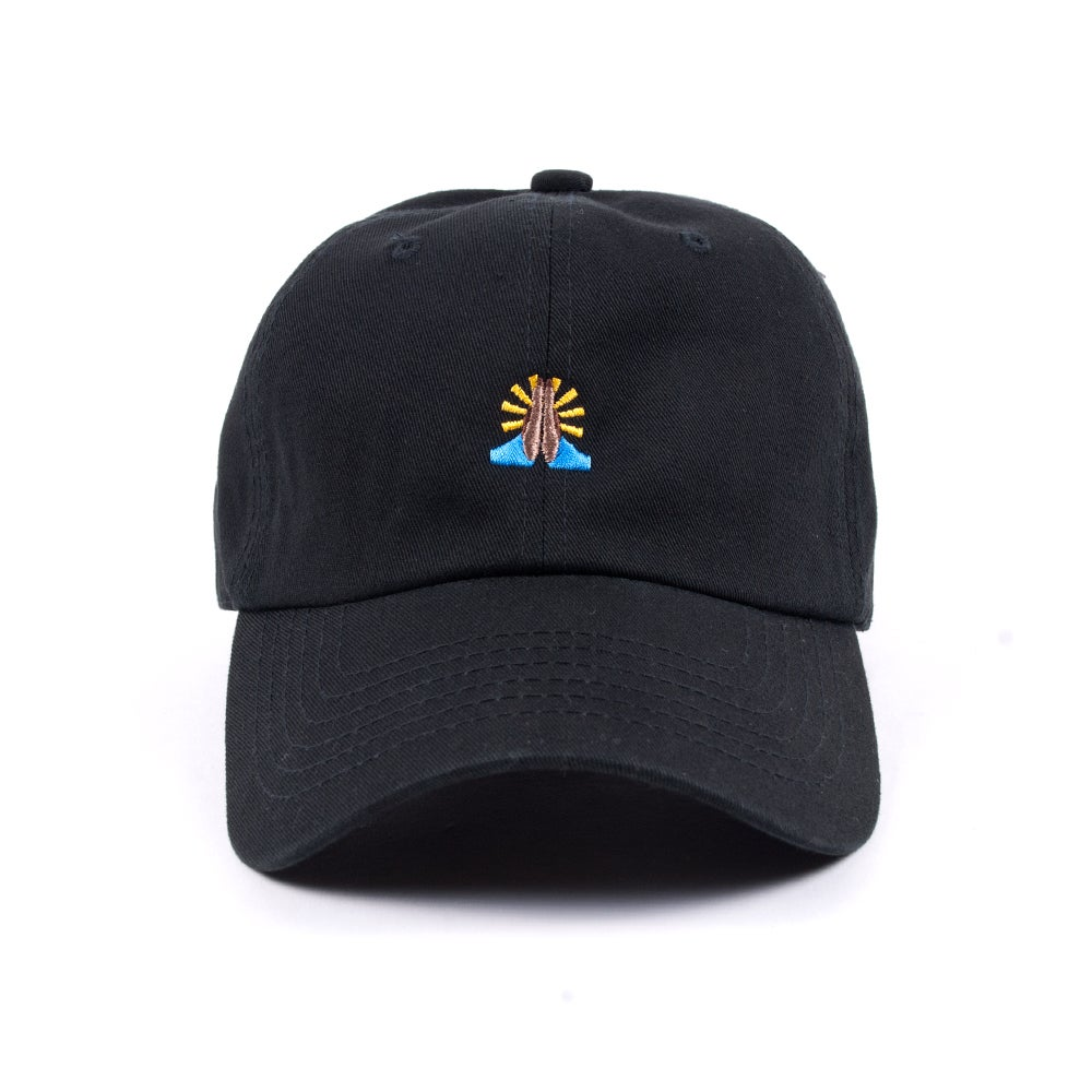 "Image of  ""Pray"" Low Profile Sports Cap - Black"