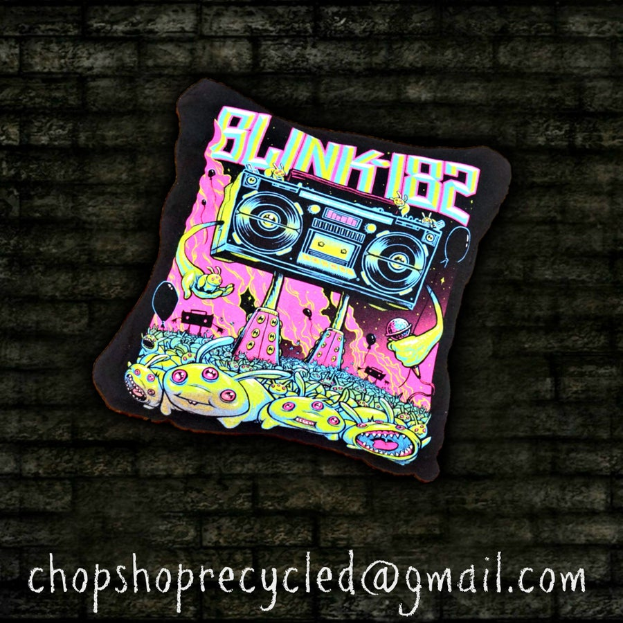 Image of Blink 182 Throw Pillow 14x14
