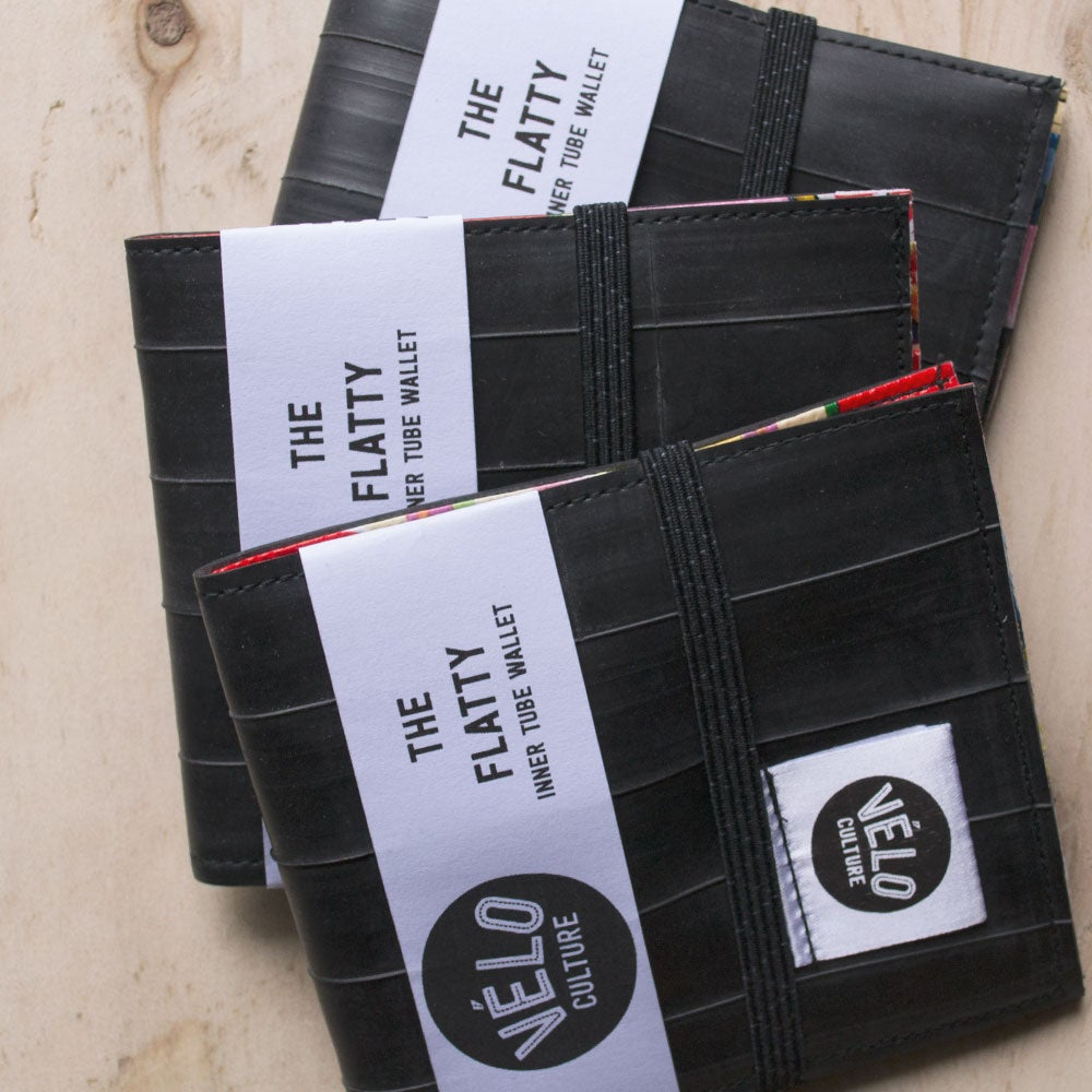 "Image of Velo Culture - ""The Flatty"" bifold upcycled inner tube wallet"