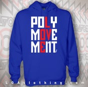 Image of BLUE POLYMOVEMENT HOODIE - CLASSIC