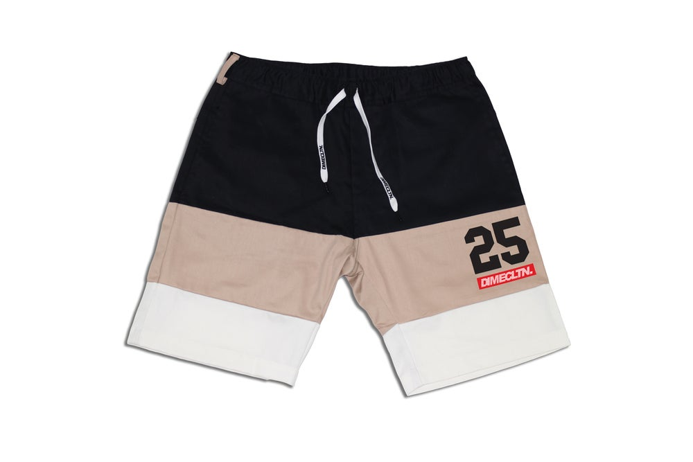 Image of DIME 3-TONE CUT & SEW SHORTS