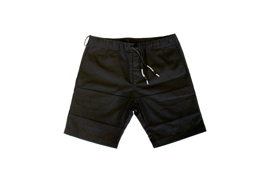 Image of DIME TRIPLE BLACK CUT & SEW SHORTS