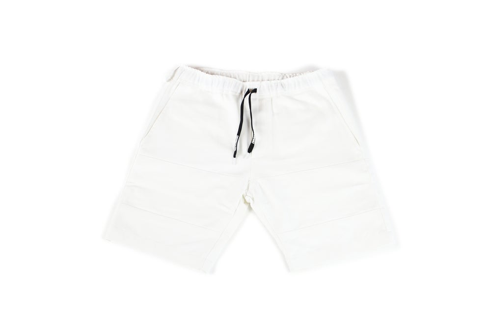 Image of DIME TRIPLE WHITE CUT & SEW SHORTS