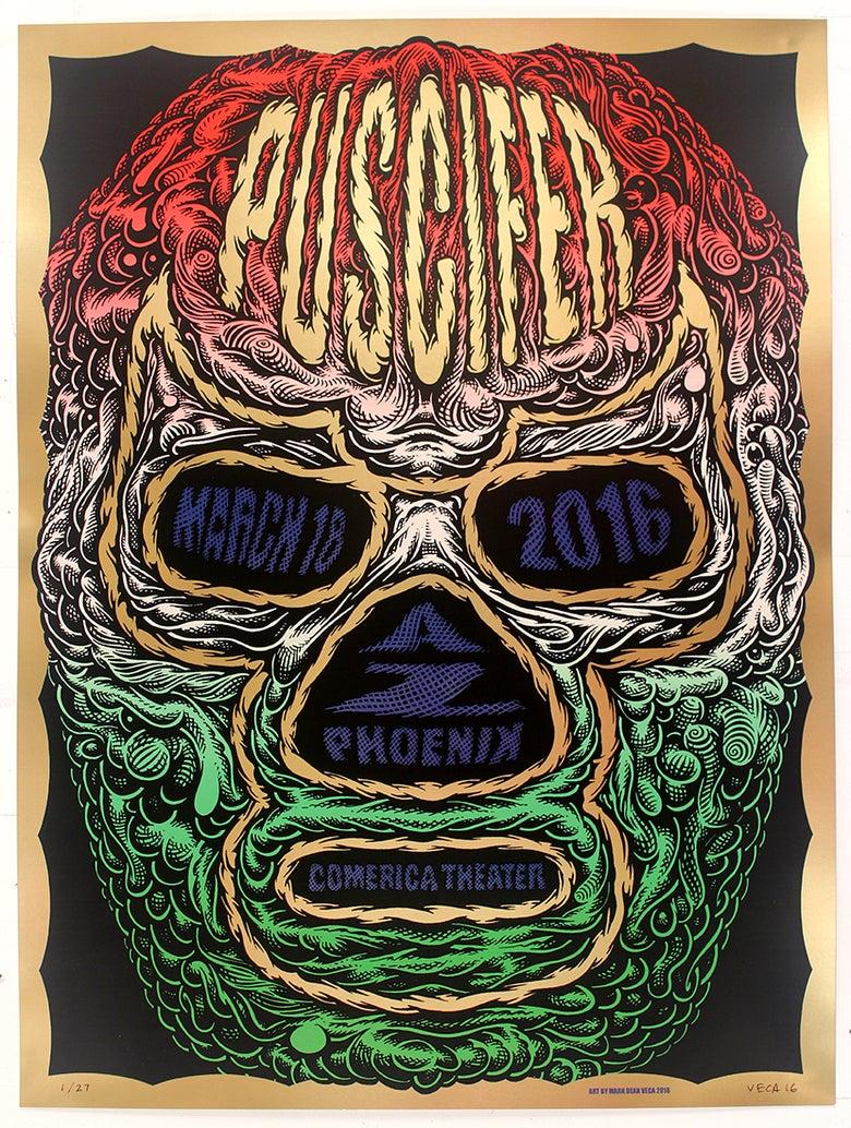 Image of Puscifer Tour Poster: El Luchador (Variant)