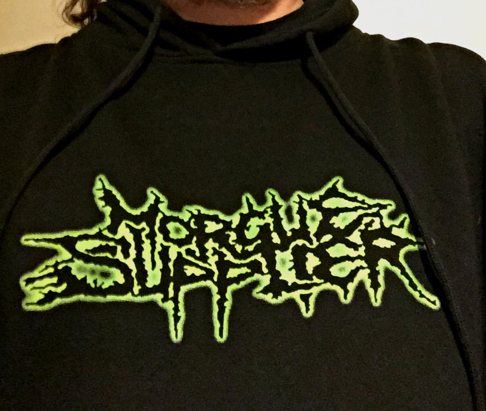 Image of Morgue Supplier Slime Green Logo Hoodie
