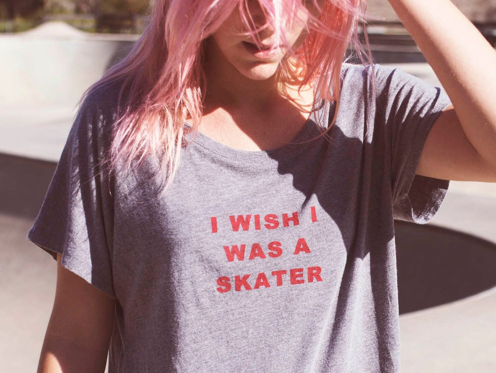 Image of I Wish I Was A Skater Tee