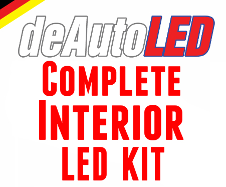 Image of Complete Interior LED Kit including Trunk LED - Error Free Fits: Audi S3 / A3 8v 2015+