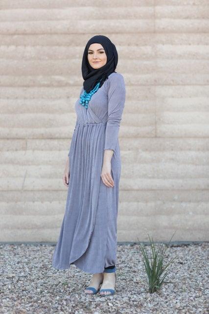 Image of La Sera Maxi dress (silver)