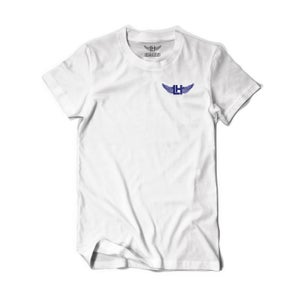 Image of Distressed LH Wings Tee (Blue)