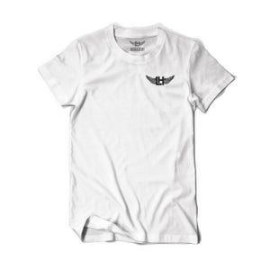 Image of Distressed LH Wings Tee (White/Black)