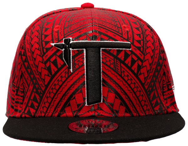 "Image of ""Roots"" Snap Back Red/Black"