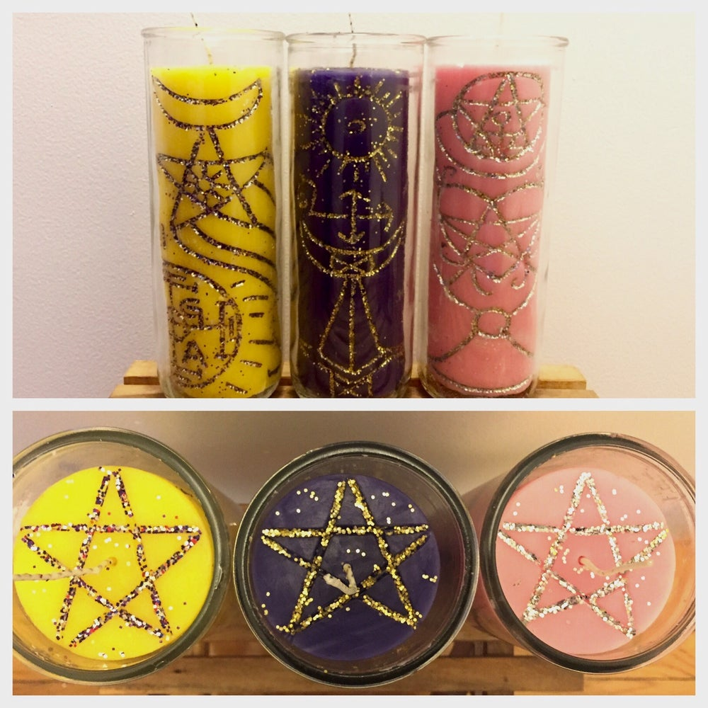 Image of Carved Intention Candles