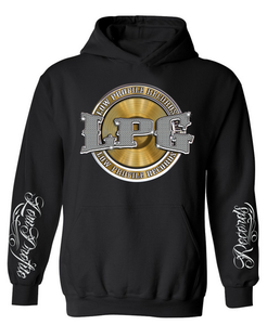 Image of LOWPROFILE RECORDS CHAIN BLACK HOODIE