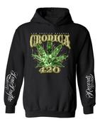 Image of CRONICA 420 BLACK HOODIE